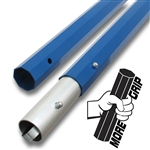 "MTOCT072 Marshalltown 72""  Powder Coated Blue Aluminum Push Button Octagon Handle Section - 1 3/4"" Diameter Sold in Packs Of 6 Only"