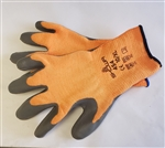 WF454M - Orange Knit/Gray Palm Winter Glove