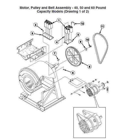 Motor Pulley And Belt Assembly