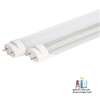 25 pack LED Tube 4ft Ballast Compatible-5000K-(Type A+B) (18W)Milky