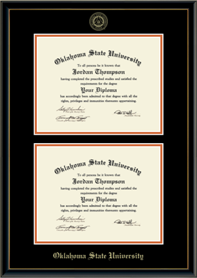 OSU Double Diploma Frame in Onexa Gold