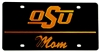 Black OSU Mom License Plate