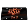 Black OSU Brand/DAD License Plate