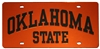 Oklahoma State Orange License Plate