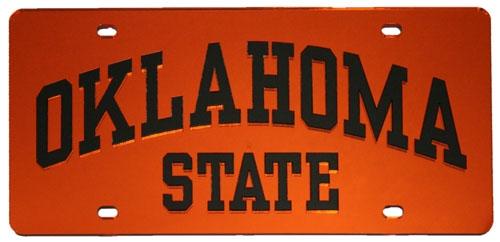 Oklahoma State Orange License Plate