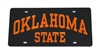 Black Oklahoma State License Plate