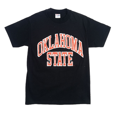 Oklahoma State Black Full Arch T-Shirt