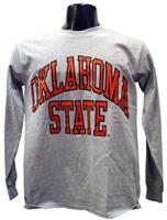 OSU Gray Full Arch Long-sleeved Tee