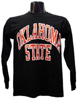 OSU Full Arch Black Long-sleeved Tee