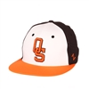 OSU White w/Orange Bill Fitted Cap