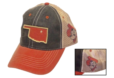 OSU State Outline Trucker Hat