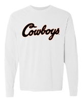 OSU Cowboys Script Long-Sleeved Tee