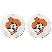 OSU Pistol Pete Car Coasters 2-Pack