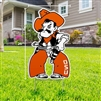 OSU FULL BODY PISTOL PETE YARD SIGN
