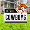 OSU LET'S GO COWBOYS YARD SIGN