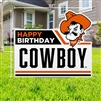 OSU HAPPY BIRTHDAY COWBOY YARD SIGN