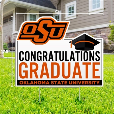 OSU CONGRATULATIONS GRAD YARD SIGN