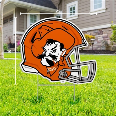 OSU PISTOL PETE HELMET YARD SIGN