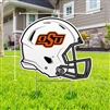 OSU BLACK FOOTBALL HELMET YARD SIGN
