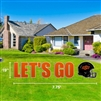 OSU LET'S GO HELMET YARD SIGN