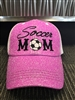 Soccer Mom Bling Hat-Pink