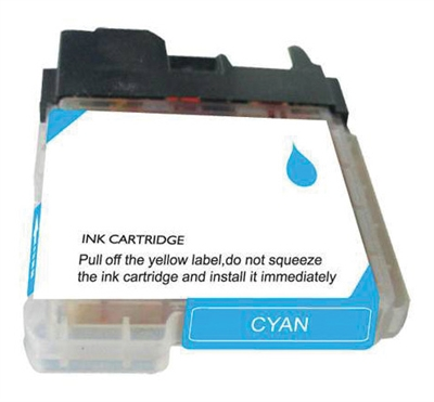 Brother LC65HYC Cyan Ink Cartridge, High Yield