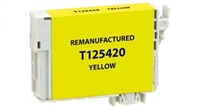 Epson 125 Yellow Ink Cartridge (T125420), Standard Yield