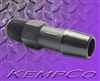 "1/8"" NPT x 3/8"" Hose-Barb Straight Adapter - Black Nylon"