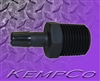 "1/2"" NPT x 3/8"" Hose-Barb Straight Adapter - Black Nylon"