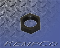 Thru-Panel Hex Nut (1/4-18 NPSF x 7/16 Hex) - Black Nylon