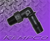 "1/8"" NPT x 3/8"" Hose-Barb Elbow Adapter - Black Nylon"