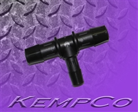 "1/2"" to 3/8"" Reduction T (TEE) Connector - Black Nylon"