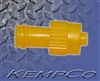 Non-Vented, Double Dead Ender Cap (Yellow) - Polypropylene