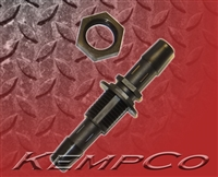 "5/16"" Hose-Barb Thru-Panel Straight with Hex Nut - Black Nylon"