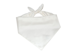 White Cotton Square Bandana