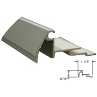 412637-8FT - 1/4in, Beveled Glass Stop Gutter w/Vinyl - (Clear Aluminum) -  (Stanley)