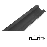 4204100831-4 - 4ft. A/Slide Floor Guide Track. (Dark Bronze) - (DOM A/SLIDE)