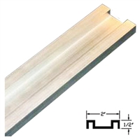 4204100831A-4 - 4ft. A/Slide Floor Guide Track. (Clear Anodized) - (DOM A/SLIDE)