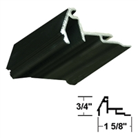 432637-4FT - 1/4in, Beveled Glass Stop Gutter w/Vinyl - (Dark Bronze) -  (Stanley)