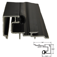 "5-11-4039CL-04 - 4ft. 1/4"" Square Glass Stop Gutter (CLEAR) Includes Vinyl Insert (Length 4 Feet) - (Record/KM 1100/5100)"