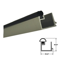 "5-11-4040-04 - 4ft. 1/4"" Square Glass Stop (CLEAR) Includes Vinyl Insert (Length 4 Feet) - (Record/KM 1100/5100)"