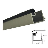 "5-11-4040-8ft. 1/4"" Square Glass Stop (CLEAR) Includes Vinyl Insert (Length 8 Feet) - (Record/KM 1100/5100)"