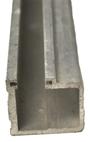 50-04-147A - 5ft. Fixed Sidelite Bottom Track - Aluminum - (Besam Pg3000, 4000, Amd1, Amd2, CGL, Uni-slide, Sl500)