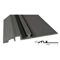 "516327 - 8FT LENGTH  (5-1/4"" x 9/16"") Threshold / Surface Angle with Vinyl Wear Strip - (Clear) - (STANLEY)"