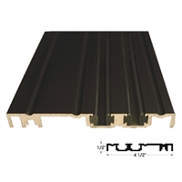 "535262 - 6FT LENGTH  (4 1/2"" x 1/2"") Threshold w/Vinyl Wear Strip (Dark Bronze)"