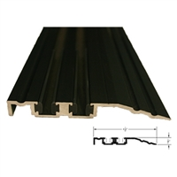 "536340 - 4FT LENGTH  (4-1/2"" x 1/2"") Threshold / Tapered w/Vinyl Wear Strip (Dark Bronze) - (STANLEY)"