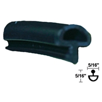 706812 -  Glass Stop Vinyl - (Black) - (SOLD BY THE FOOT) - (Stanley)