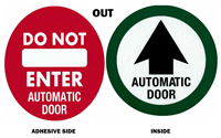 """OUT ONLY"" - 7 1/2""H x 7 1/2""W - (Two Sided) - ANSI 156.10 COMPLIANT - (Decal)"