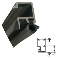 C0338RB-4FT - 1/4in. Glass Stop w/Vinyl - (Bronze) - 4FT SECTIONS -  (Horton)