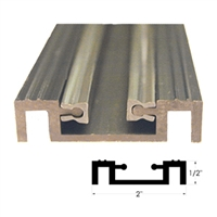 C0367 - 8ft. - Bottom Pin Guide Track (8 FOOT) -CLEAR- (Horton 2000 Linear, Belt, 2001, 2003)